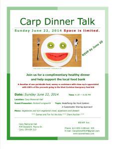 Dinner Talk Poster-June