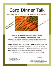 Dinner Talk Poster-Nov