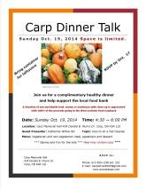 Dinner Talk Poster-Oct