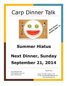 Summer Hiatus Carp Dinner Talk