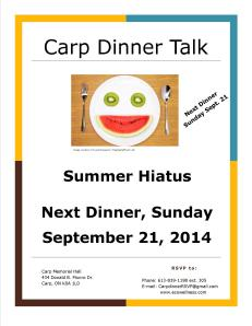 Summer Hiatus Carp Dinner Talk