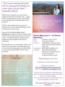 Desire Map Workshop